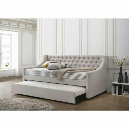 ACME Lianna Daybed & Trundle (Twin Size) - 39395 - Fog Fabric