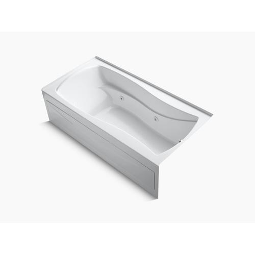 "White 72"" X 36"" Alcove Whirlpool With Integral Apron, Integral Flange and Right-hand Drain"