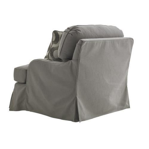 Stowe Swivel Slipcover Chair - Gray