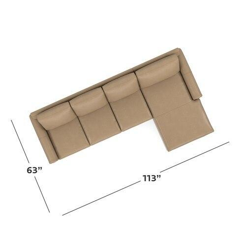 CU.2 Leather Right Chaise Sectional