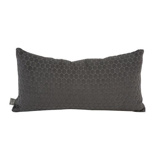 Howard Elliott - Kidney Pillow Deco Pewter - Down Insert