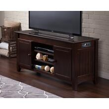 See Details - Nantucket 50 inch Entertainment Console with Adjustable Shelves and Charging Station in Espresso
