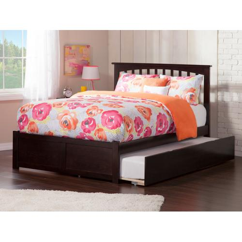 Mission Full Flat Panel Foot Board with Urban Trundle Espresso