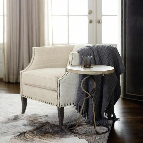 Rustic Patina Accent Table in Sand (387)