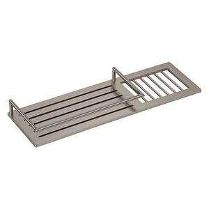"Satin Nickel 14"" Combination Shower Shelf"