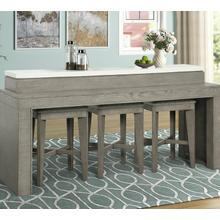 View Product - PURE MODERN Everywhere Console with 3 Stools