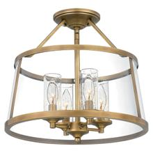 See Details - Barlow Semi-Flush Mount in Weathered Brass