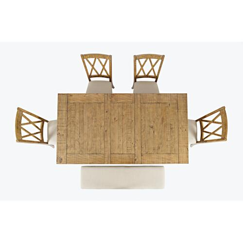 Telluride Ext Table With 4 Chairs and Bench