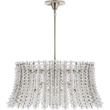 AERIN Serafina 8 Light 35 inch Polished Nickel Drum Chandelier Ceiling Light, Large