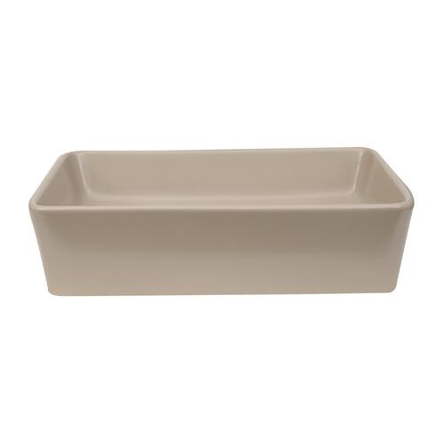 Harmony Rectangular Above Counter Basin - White