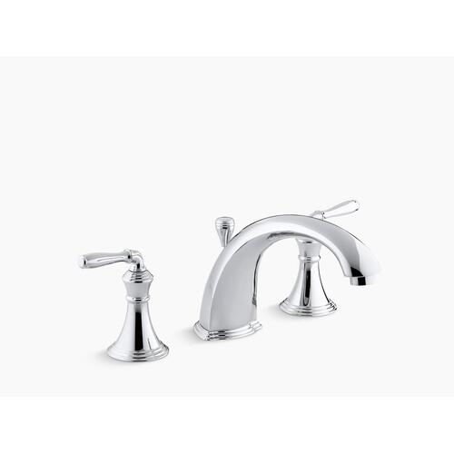 "Kohler - Oil-rubbed Bronze Deck-/rim-mount Bath Faucet Trim for High-flow Valve With 8-15/16"" Diverter Spout and Lever Handles, Valve Not Included"
