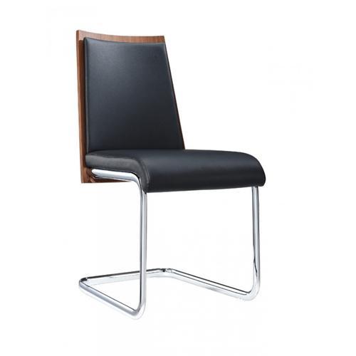 VIG Furniture - Morgan - Modern Black & Walnut Dining Chair (Set of 2)