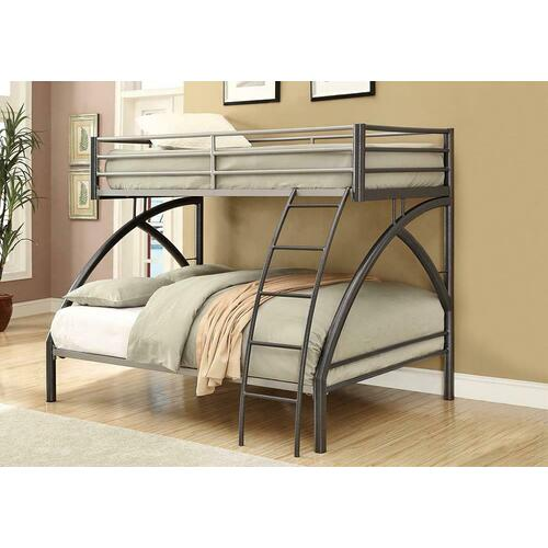 Twin-over-full Metal Bunk Bed