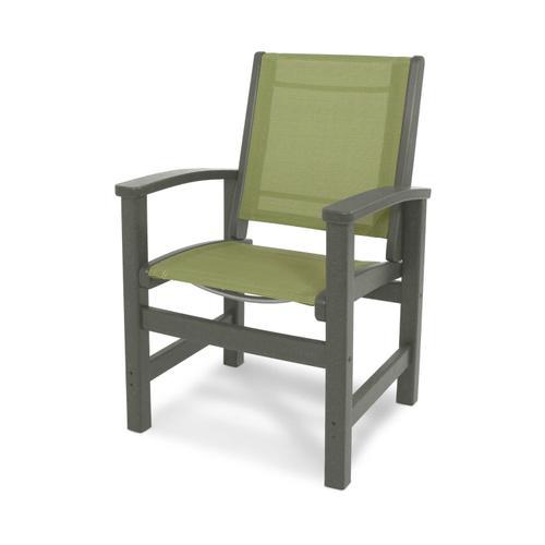 Slate Grey & Kiwi Coastal Dining Chair