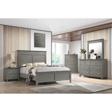 Bessey Queen 4PC Bedroom Set, Gray