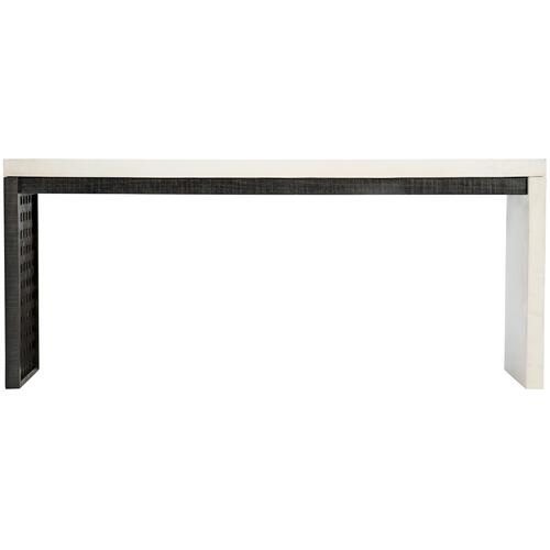 Kenton Console Table in Bone, Cinder