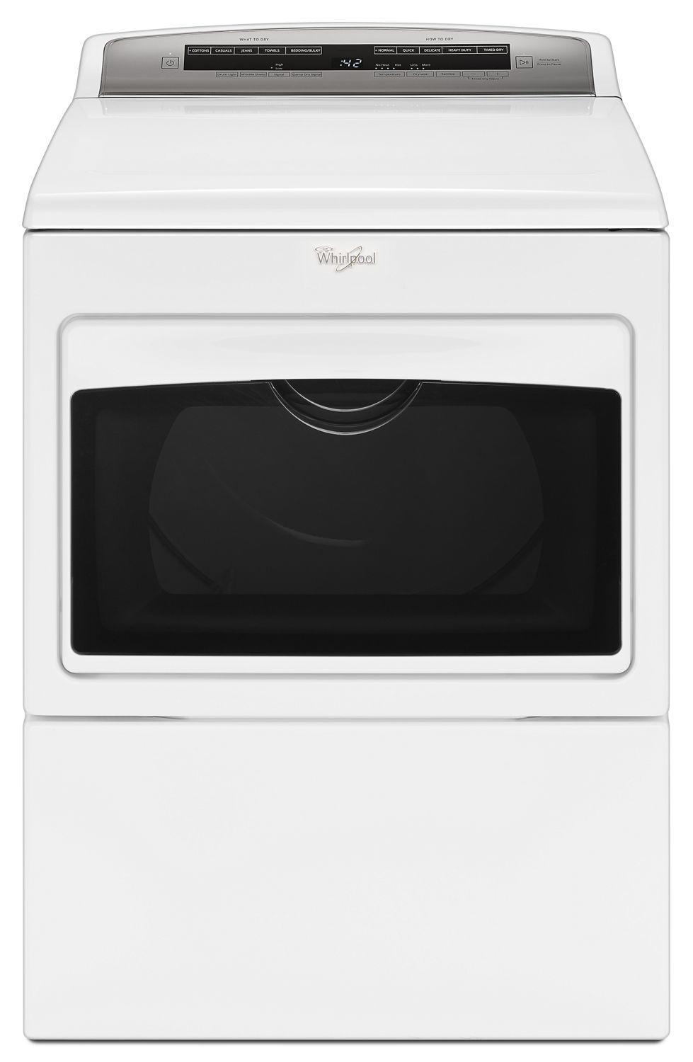 Whirlpool7.4 Cu. Ft. Top Load Electric Dryer With Accudry Sensor Drying Technology White