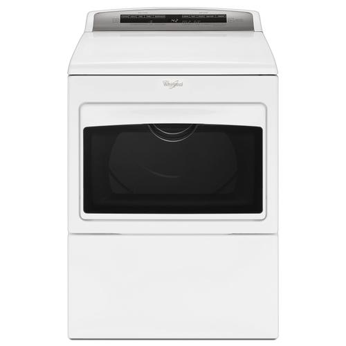 Gallery - 7.4 cu. ft. Top Load Electric Dryer with AccuDry Sensor Drying Technology White