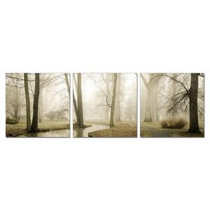 Gallery - Modrest Mist 3-Panel Photo On Canvas