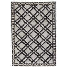 "Finesse-Bamboo Trellis Noir - Rectangle - 3'11"" x 5'6"""
