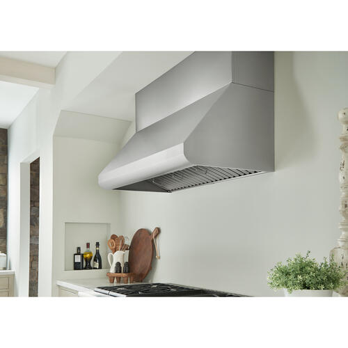 Broan® 48-Inch Convertible Wall-Mount Canopy Range Hood w/ Heat Sentry , 1200 CFM, Stainless Steel