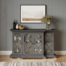 Carrington Small Breakfront Cabinet - Grey