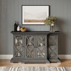 See Details - Carrington Small Breakfront Cabinet - Grey