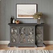 Carrington Small Breakfront Cabinet - Grey