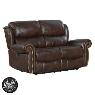 See Details - Hyde Park Loveseat  Tobacco