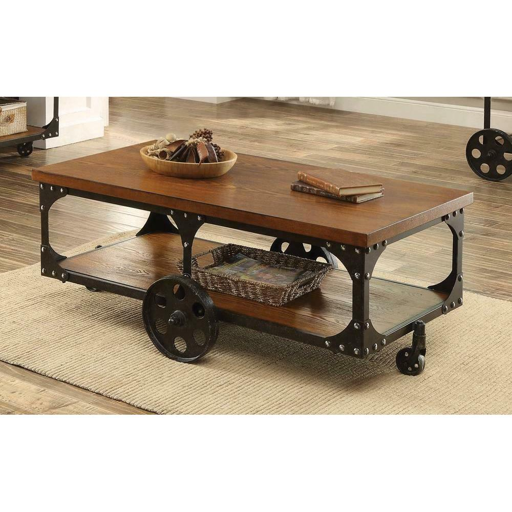 See Details - Rustic Cherry Coffee Table