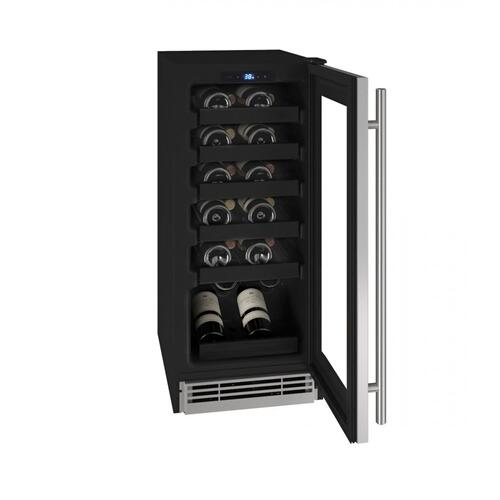 """Product Image - Hwc115 15"""" Wine Refrigerator With Stainless Frame Finish (115v/60 Hz Volts /60 Hz Hz)"""