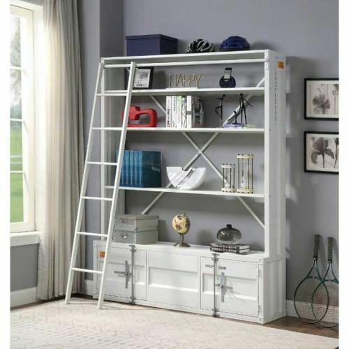 ACME Cargo Bookshelf & Ladder - 39882 - White