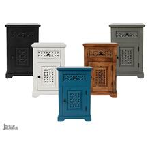 Decker Cabinet Accent Table- A. Black