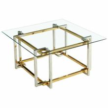 See Details - Florina Square Coffee Table in Silver and Gold