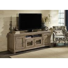 See Details - 74 Inch Console - Weathered Gray Finish