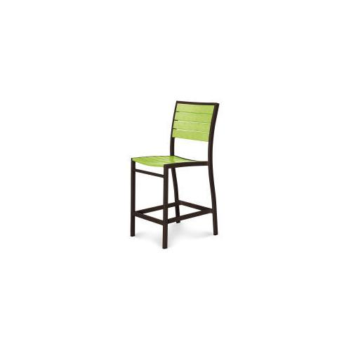 Polywood Furnishings - Eurou2122 Counter Side Chair in Textured Bronze / Lime