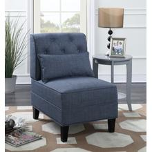 See Details - Everton Tufted Accent Chair, Blue
