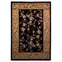 "Cambridge 7336 Black/beige Floral Delight 5'3"" X 7'7"""