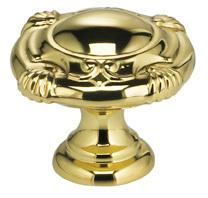 Ornate Cabinet Knob in US3 (Polished Brass, Lacquered)