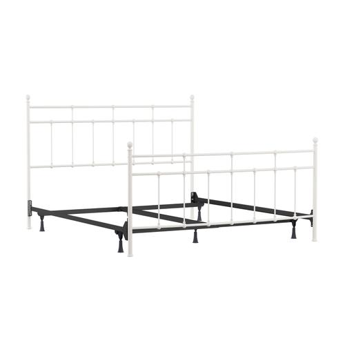Gallery - Providence Metal King Bed, Soft White