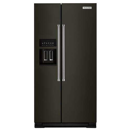 22.7 Cu. Ft. Counter Depth Side-by-Side Refrigerator with Exterior Ice and Water Black Stainless Steel with PrintShield™ Finish