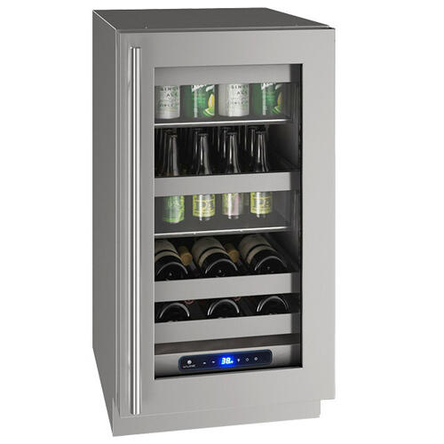 "Hbv518 18"" Beverage Center With Stainless Frame Finish and Left-hand Hinge Door Swing (115 V/60 Hz Volts /60 Hz Hz)"