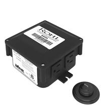 Decorative Luxury Air Activated Switch Button with Control Box for Waste Disposal - Matte Black
