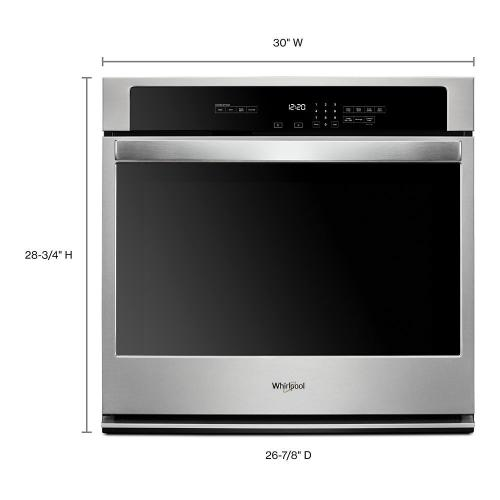 Whirlpool - 5.0 cu. ft. Single Wall Oven with the FIT system