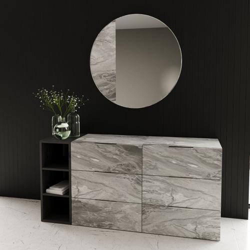 VIG Furniture - Nova Domus Maranello - Modern Grey Wash & Faux Marble Dresser