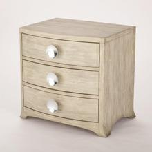 Product Image - Bow Front Three Drawer Chest-Grey