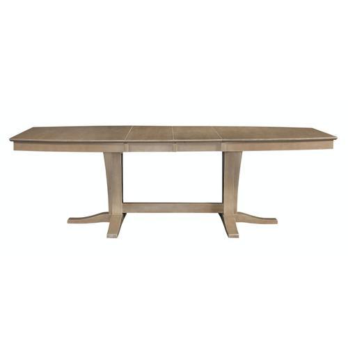 John Thomas Furniture - Milano Double Pedestal Extension Table in Taupe Gray