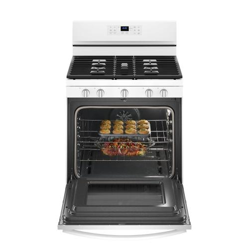Whirlpool Canada - 5.0 cu. ft. Freestanding Gas Range with Fan Convection Cooking
