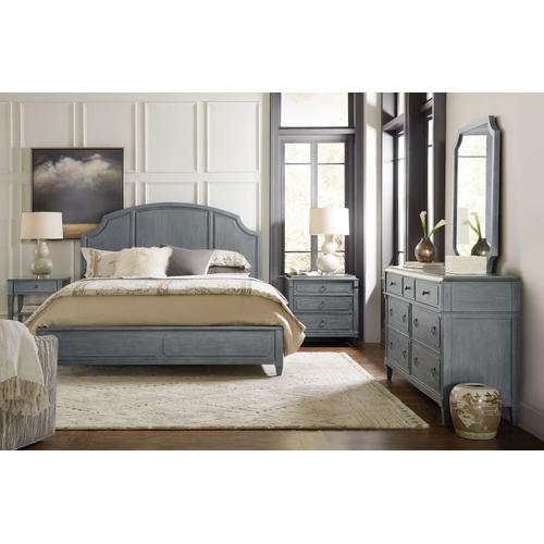 Bedroom Hamilton Queen Wood Panel Bed