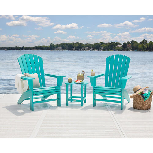 White Nautical Curveback Adirondack Chair